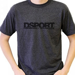 T-Shirt Men's Grey Classic with Black Logo