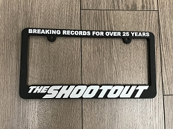 Shootout License Plate Frame