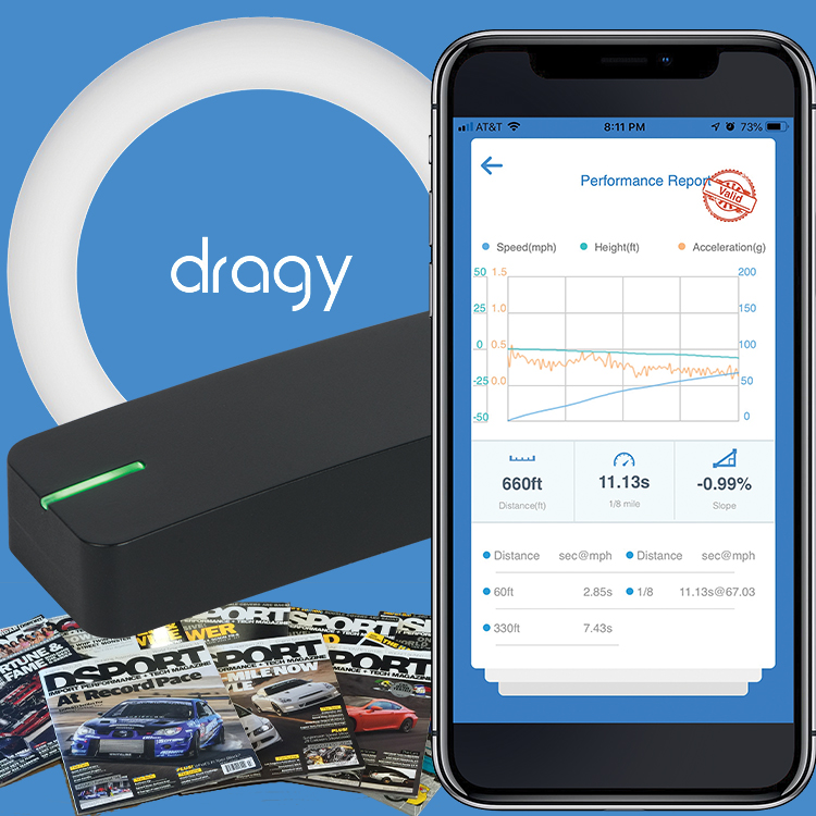 Dragy Performance Timer + FREE 1 Year USA Subscription